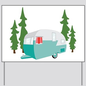 Camper Scene Yard Sign