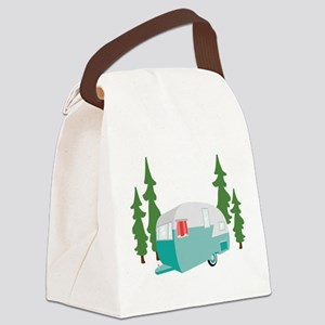 Camper Scene Canvas Lunch Bag
