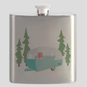 Camper Scene Flask