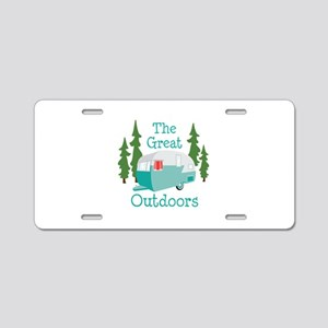 The Great Outdoors Aluminum License Plate