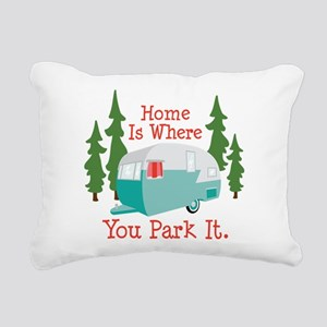 Home Is Where You Park It. Rectangular Canvas Pill