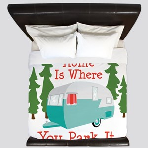 Home Is Where You Park It. King Duvet