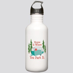 Home Is Where You Park It. Water Bottle