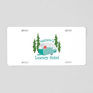 Natures Luxury Hotel Aluminum License Plate