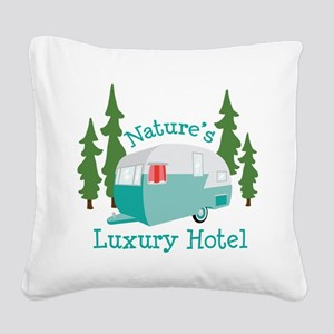 Natures Luxury Hotel Square Canvas Pillow