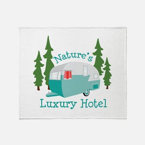 Natures Luxury Hotel Throw Blanket