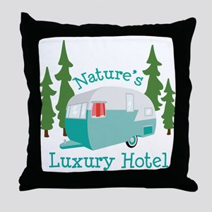 Natures Luxury Hotel Throw Pillow