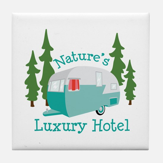 Natures Luxury Hotel Tile Coaster