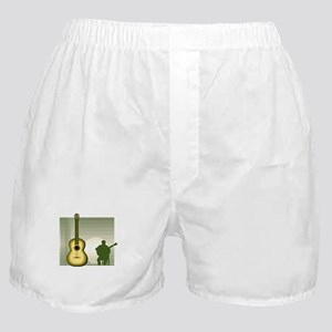 acoustic guitar player sitting yellow Boxer Shorts