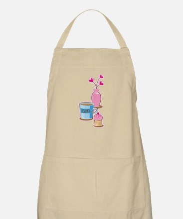 Cute Latte Coffee cups afternoon high tea Apron