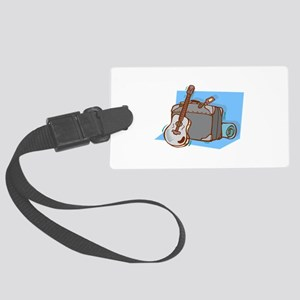 acoustic guitar suitcase blue Luggage Tag