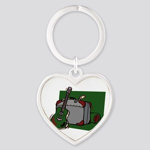 acoustic guitar suitcase green Keychains