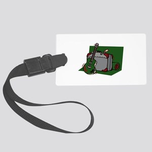 acoustic guitar suitcase green Luggage Tag