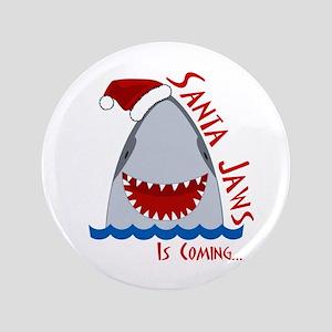 "Santa Jaws 3.5"" Button"