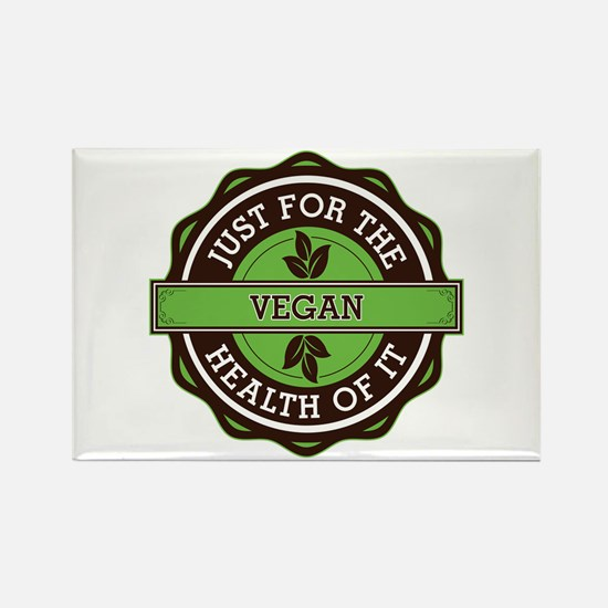 Vegan For the Health of It Rectangle Magnet