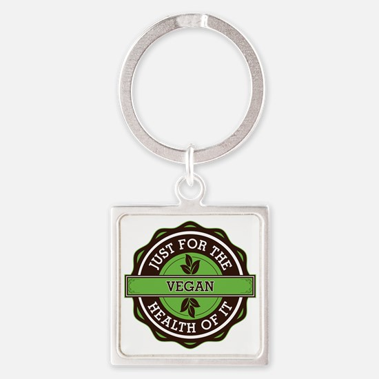 Vegan For the Health of It Square Keychain