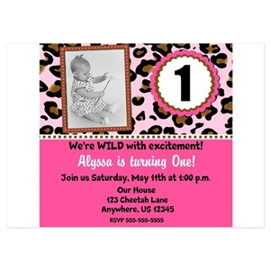 Cheetah Invitations And Announcements Cafepress