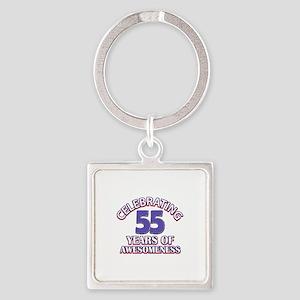 Celebrating 55 years of awesomeness Square Keychai