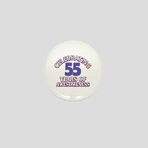 Celebrating 55 years of awesomeness Mini Button