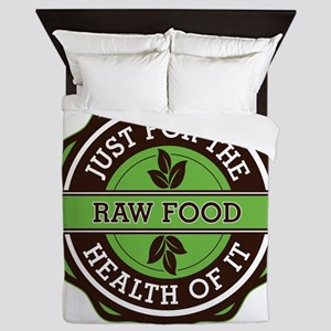 Raw Food For the Health of It Queen Duvet