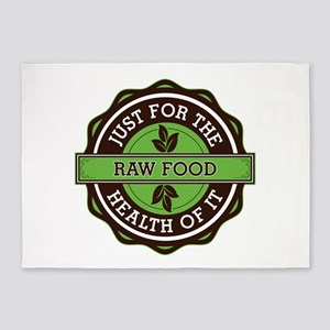 Raw Food For the Health of It 5'x7'Area Rug