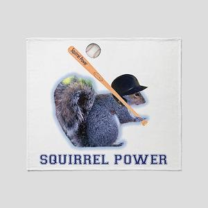Squirrel Power Throw Blanket