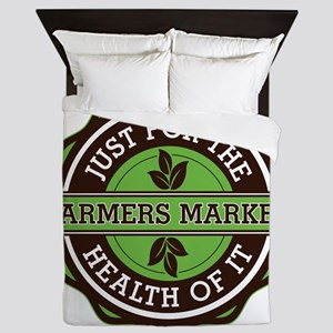 Farmers Market For the Health of It Queen Duvet