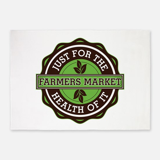 Farmers Market For the Health of It 5'x7'Area Rug