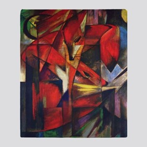 The Fox by Franz Marc Throw Blanket