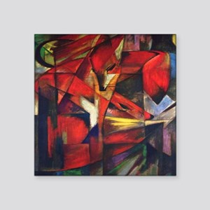 "The Fox by Franz Marc Square Sticker 3"" x 3"""