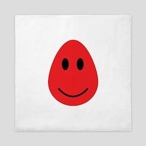 Smiling Red Gumdrop Queen Duvet