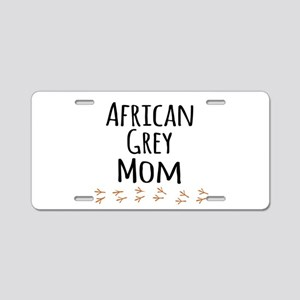African Grey Mom Aluminum License Plate