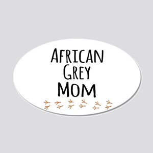 African Grey Mom Wall Decal