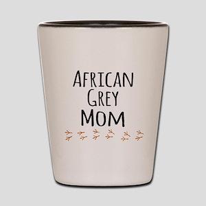 African Grey Mom Shot Glass