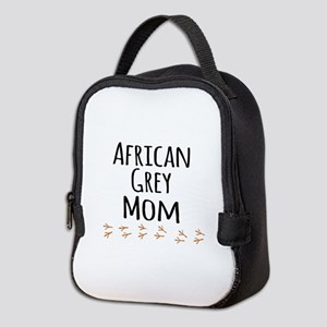 African Grey Mom Neoprene Lunch Bag