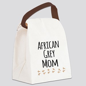 African Grey Mom Canvas Lunch Bag