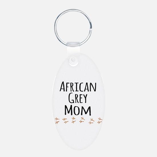 African Grey Mom Keychains