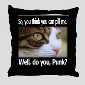 Pill Me, Punk Throw Pillow