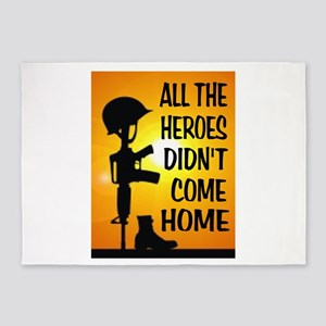 HEROES TRIBUTE 5'x7'Area Rug