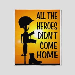 Heroes Tribute Throw Blanket