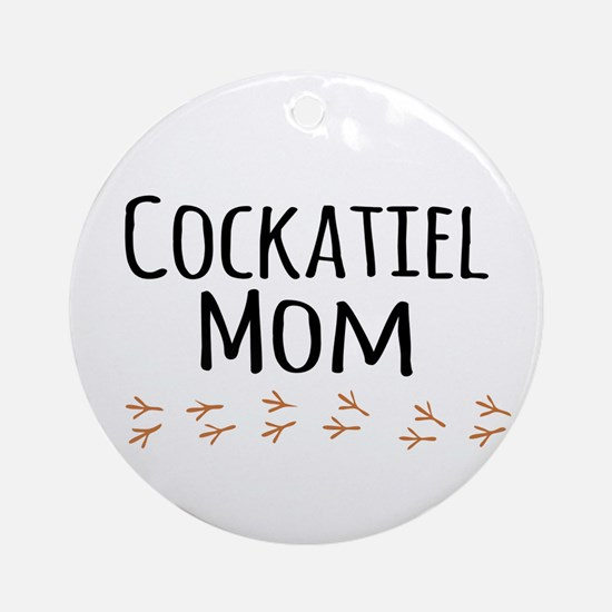 Cockatiel Mom Ornament (Round)
