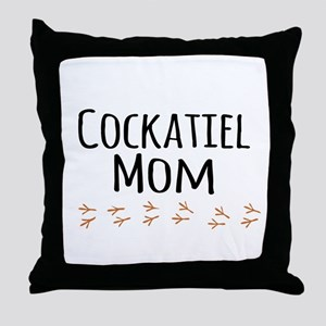 Cockatiel Mom Throw Pillow
