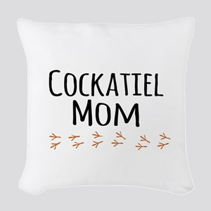 Cockatiel Mom Woven Throw Pillow