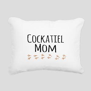 Cockatiel Mom Rectangular Canvas Pillow