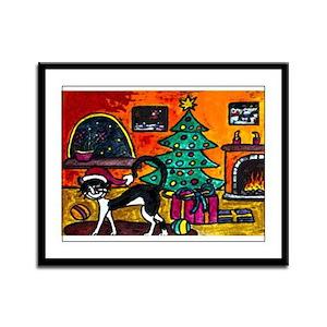 Merry Christmas Framed Panel Print