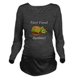 Fast Food Junkie Long Sleeve Maternity T-Shirt