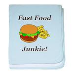 Fast Food Junkie baby blanket