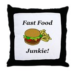 Fast Food Junkie Throw Pillow