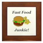 Fast Food Junkie Framed Tile
