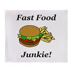 Fast Food Junkie Throw Blanket
